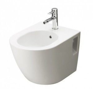 TOTO NC Series NC bidet, wallhung with tap hole, with overflow - OPEN BOX SALE
