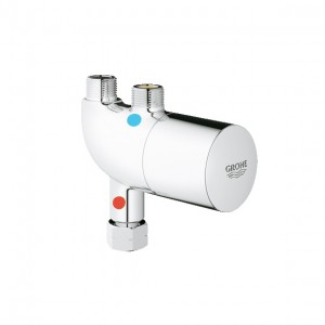 thermostatic mixer hot and cold slim undercounter  grohe thermostat