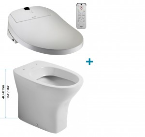 Coway ba13-BE Washlet + Sanitosco Raised Height  Floor-standing toilet COMFORT HEIGHT