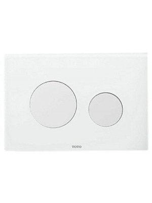 TOTO Push plate in combination with Tece installation frame - white #E00022