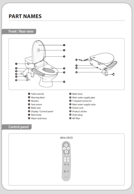 Coway Bas16 Digital Bidet Seat Tooaleta
