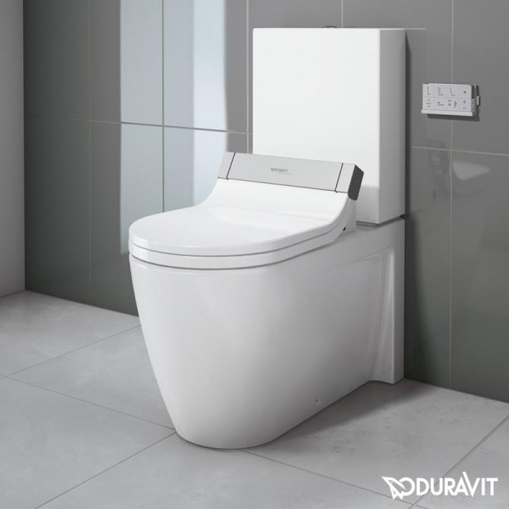 duravit starck 2 floor standing close coupled washdown toilet with sensowash starck e seat. Black Bedroom Furniture Sets. Home Design Ideas