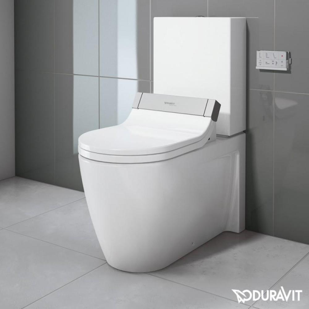 duravit starck 2 floor standing close coupled washdown toilet with sensowash starck e seat. Black Bedroom Furniture Sets. Home Design Ideas