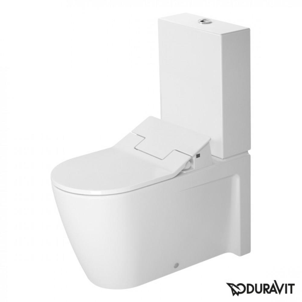 duravit starck 2 floor standing close coupled washdown toilet with sensowash slim seat set. Black Bedroom Furniture Sets. Home Design Ideas