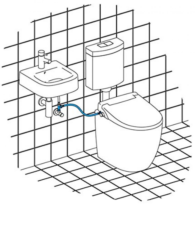 maro washlet cold water wash basin connection bidet