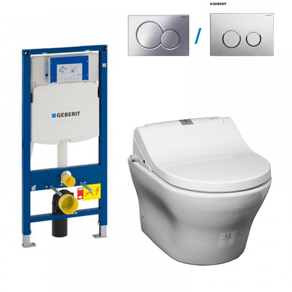 Complete Set With Wallhung Toilet TOTO MH CWY At Its Core Tooaleta - Toto japanese toilet seat